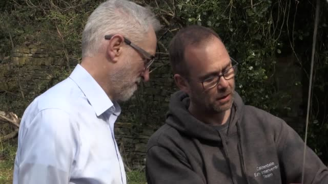 footage of jeremy corbyn visiting the sunnyvale outdoor activity centre in calderdale which works to divert young people from offending and... - cut video transition stock videos and b-roll footage
