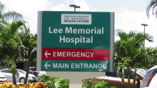 stockvideo's en b-roll-footage met footage of lee memorial hospital in fort myers florida following the mass shooting at club blu - fort myers