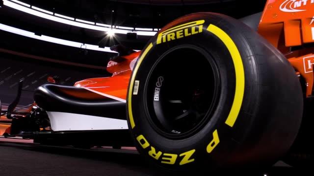footage of mclaren's new car for the 2017 formula 1 season which starts next month in australia, includes shots of mclaren driver fernando alonso. - formula one racing stock videos & royalty-free footage