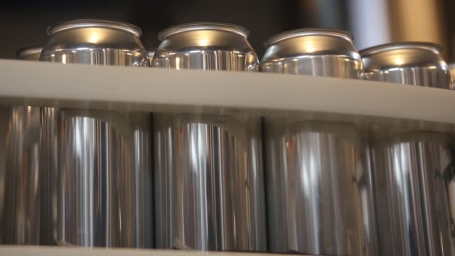 footage of mobile canning operation to can beer at other half brewing company in the gowanus neighborhood in brooklyn new york tuesday april 18 2017... - canning stock videos & royalty-free footage
