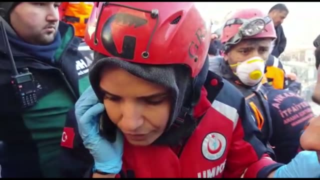 footage of national medical rescue team member emine kustepe who contacted an earthquake victim trapped in debris of a collapsed building in elazig... - call me by your name stock videos & royalty-free footage