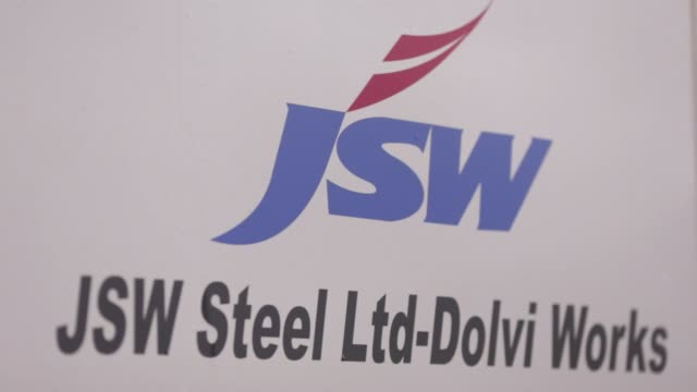 footage of nature and inside a jsw steel ltd manufacturing facility in dolvi, maharashtra, india, on tuesday, july 28, 2015 shots: many similar wide... - steel stock videos & royalty-free footage
