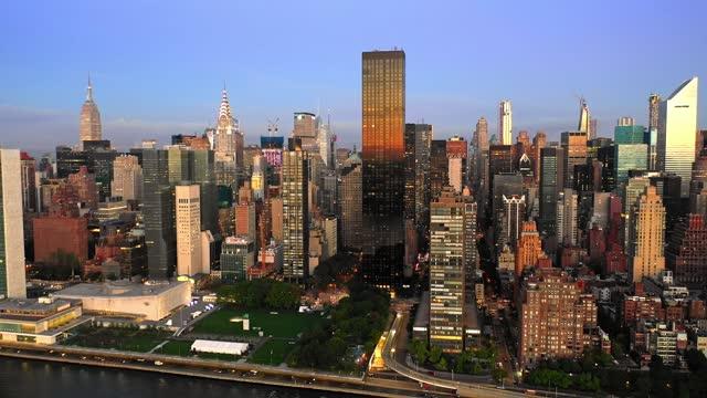 4k footage of new york at sunrise - manhattan new york city stock videos & royalty-free footage