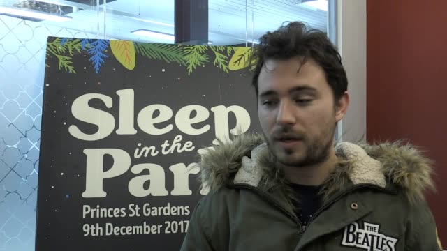 footage of of sleep in the park involving around 8,000 people sleeping overnight in princes street gardens, edinburgh, to raise money to combat... - amy macdonald stock videos & royalty-free footage