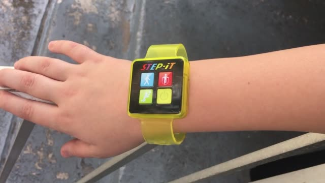 footage of one of the recalled children's fitness bands that were distributed in mcdonald's happy meals - happy meal stock videos & royalty-free footage