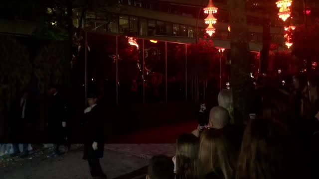 footage of prince harry arriving at copenhagen's famous tivoli gardens amusement park during his trip to denmark - tivoli copenhagen stock videos and b-roll footage