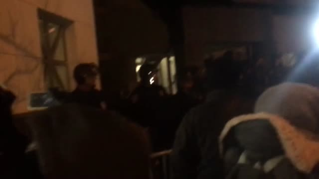footage of protesters chanting empty hands are stronger in the front of the minneapolis police precinct the police are in riot gear and blocking the... - police brutality stock videos and b-roll footage