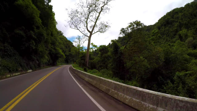 4k footage of rural brazilian road. - stato di rio grande do sul video stock e b–roll