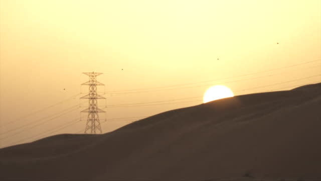 Footage of Saudi Arabian oil fields and plant in the desert