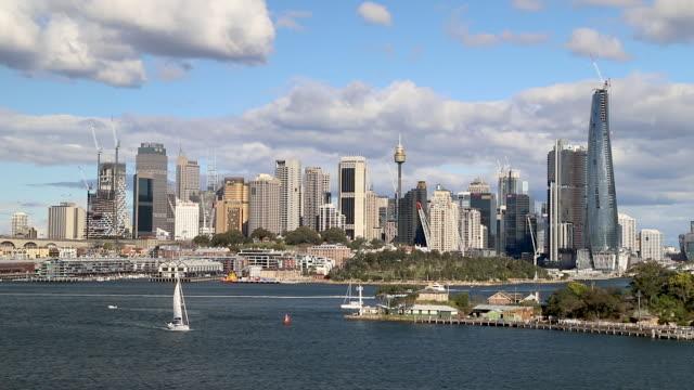 footage of sydney skyline, nsw, australia - cityscape stock videos & royalty-free footage