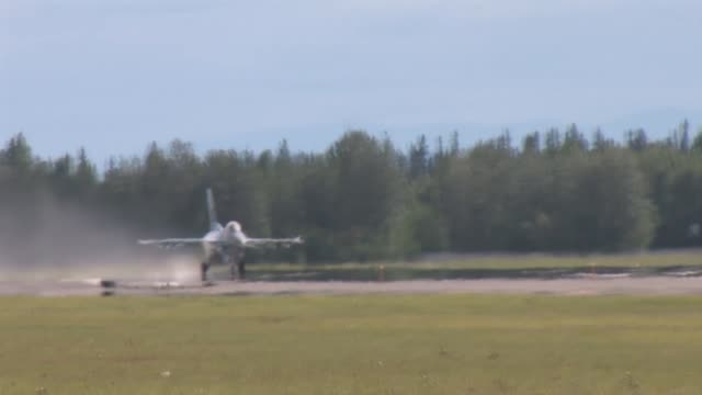 footage of the 177th fighter wing njang red flag alaska 112 june 2011 flight line operations and take offs featuring f16c/d f15c f15e strike eagle... - general dynamics f 16 falcon stock videos & royalty-free footage