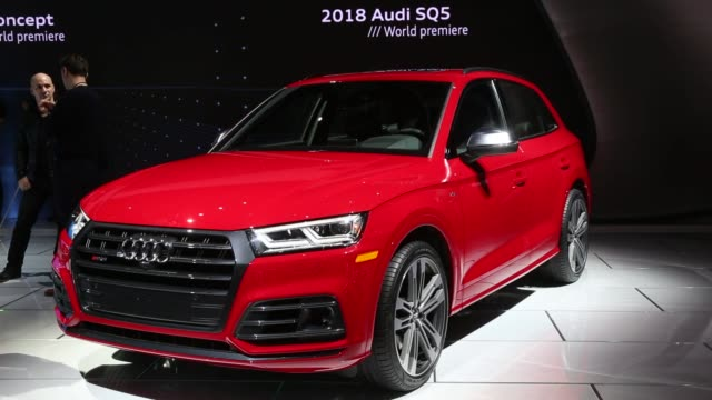 Footage of the 2018 Audi SQ5 during the 2017 North American International Auto Show in Detroit Michigan US on Tuesday Jan 10 2017 Shots wide shot of...