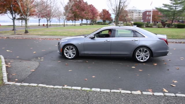 footage of the 2018 cadillac ct6 parallel parking in a spot in ny on november 16 2017 photographer timothy fadek shots tracking wide shot of car... - parallel parking stock videos & royalty-free footage