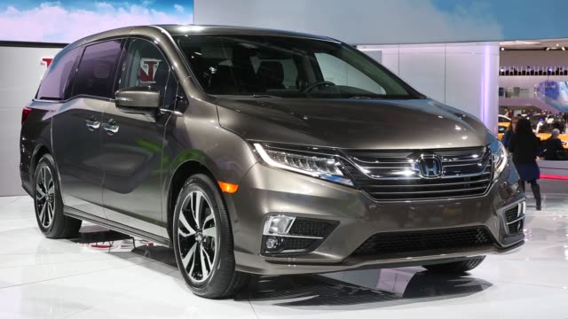 Footage of the 2018 Honda Odyssey Minivan during the 2017 North American International Auto Show in Detroit Michigan US on Tuesday Jan 10 2017 Shots...