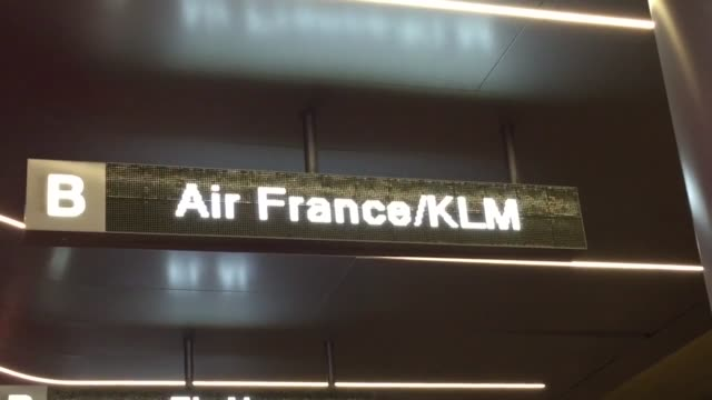 stockvideo's en b-roll-footage met footage of the air france terminal at lax after the major terror attacks in paris - first line of defense filmtitel