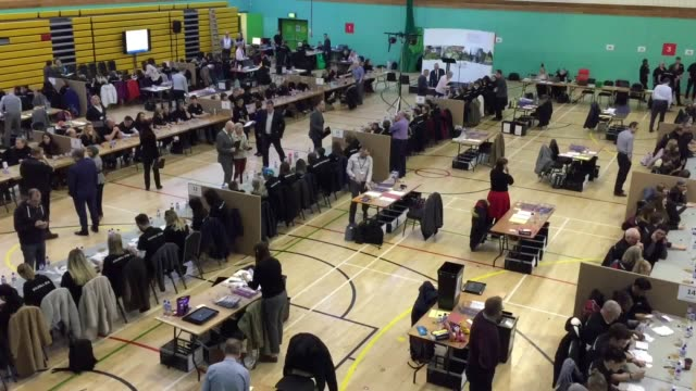 footage of the ballot verification for the solihull and meriden constituencies, in the west midlands. both seats are tory, with comfortable... - verification stock videos & royalty-free footage