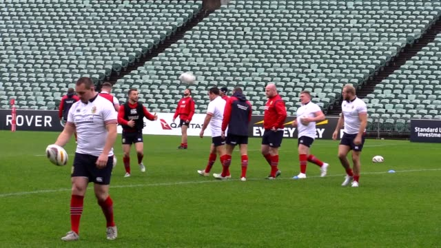 Footage of the British and Irish Lions in training ahead of their first test against New Zealand on Saturday Warren Gatland has called for an end to...