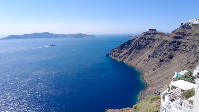 footage of the caldera in santorini, greece - cyclades islands stock videos & royalty-free footage
