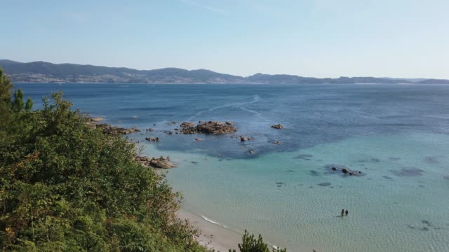 4k footage of the coastside of galicia, spain - galicia stock videos & royalty-free footage