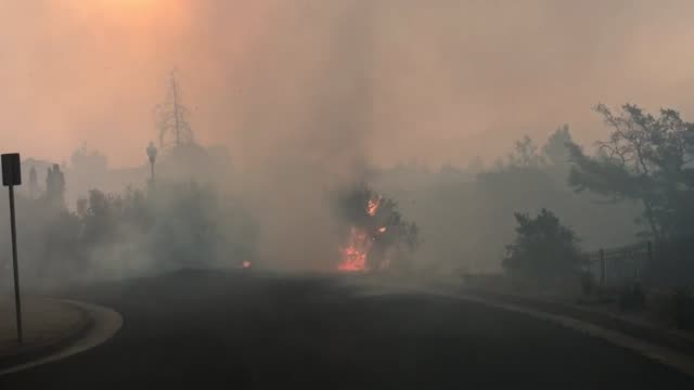 Footage of the fire in Santa Rosa