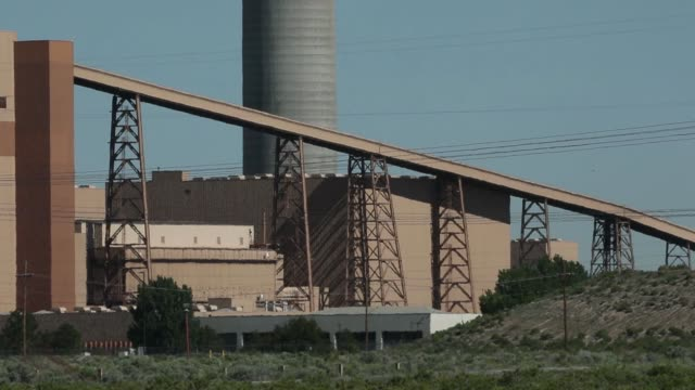 footage of the intermountain generating station and converter station part of the intermountain power project outside delta utah on may 24 2017 shots... - plant part stock videos and b-roll footage