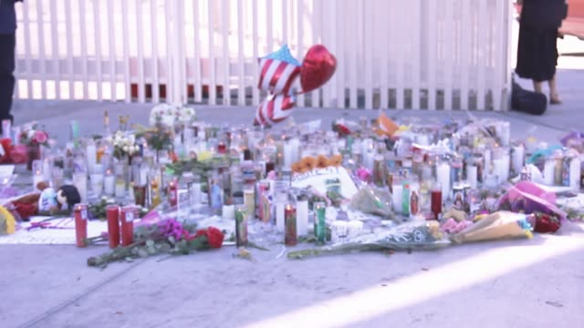 footage of the Las Vegas memorial to honor the victims of Sunday nights shooting