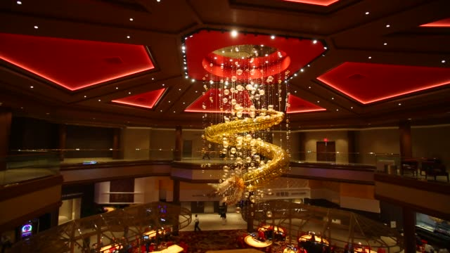 footage of the lucky dragon hotel and casino interior decoration, an asian-themed boutique hotel and casino on november 28, 2016 in las vegas, nv... - massage table stock videos & royalty-free footage