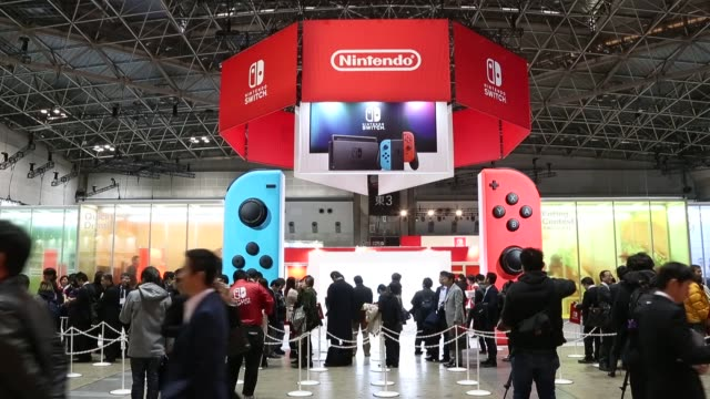 footage of the nintendo switch at an unveiling event for the company's switch game console in tokyo japan on friday jan 13 2017 shots cu of nintendo... - switch stock videos & royalty-free footage