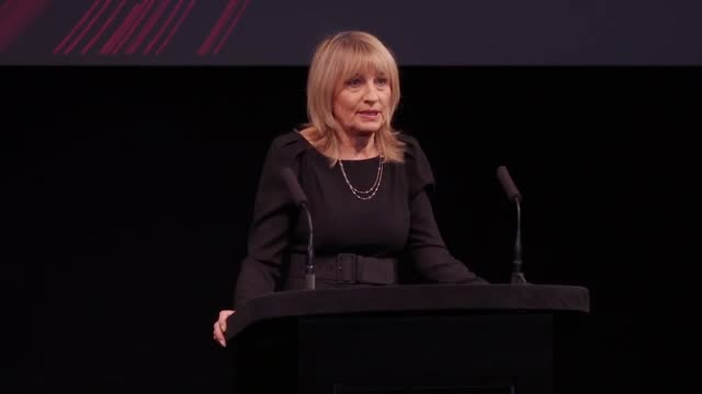 Footage of the nominations announcement for this year's Bafta film awards read out by actresses Natalie Dormer and Letitia Wright with Joanna Lumley...