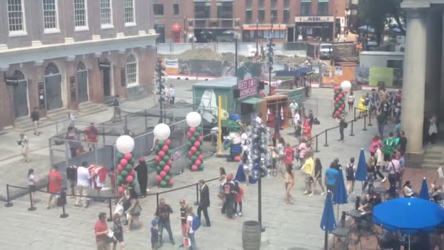 Footage of the Red Sox Showcase at Faneuil Hall