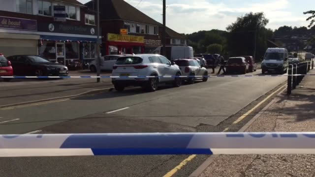 Footage of the scene where an offduty police officer was stabbed in an attempted carjacking in Great Barr West Midlands