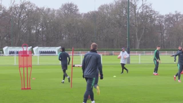 Footage of Tottenham's training session ahead of Champions League clash against Borussia Dortmund