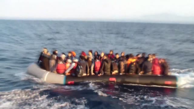 footage of turkish coast guard command shows three fetullah terrorist organization members and 62 illegal refugees who were trying to escape europan... - aydın province stock videos and b-roll footage