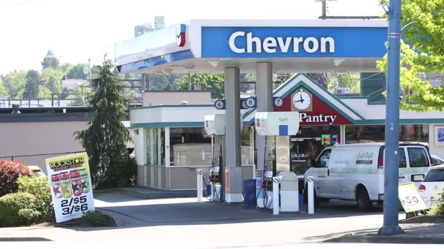Footage of various different gas stations as gas prices are highlighted in Vancouver British Columbia Canada on May 6 2016 Shots shot of man filling...