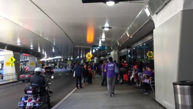 footage of workers striking at san francisco international airport. - san francisco international airport stock videos & royalty-free footage