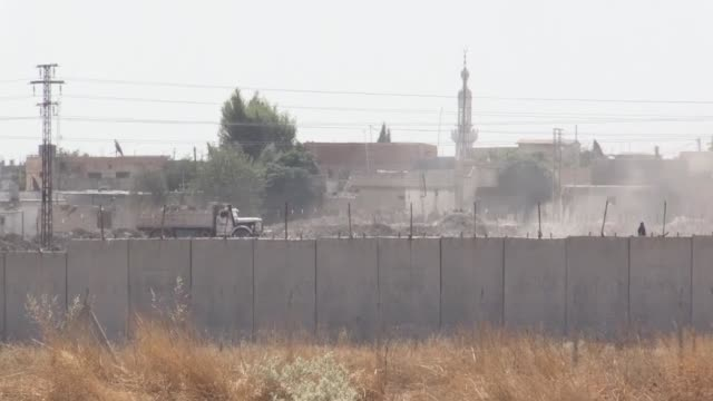 footage shot by anadolu agency on tuesday showed pkk/ypg terrorists' activities ahead of an imminent turkey's military operation east of the... - people's protection units stock videos & royalty-free footage