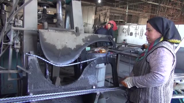 footage showing daily work from ironmongery run by a woman where 2 out 7 workers are women in the early hours of the day in germencik town of aydin... - aydın province stock videos and b-roll footage
