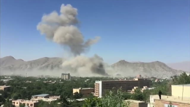 stockvideo's en b-roll-footage met footage showing the aftermath of a suicide bomb attack in kabul afganistan may 2017 - bom