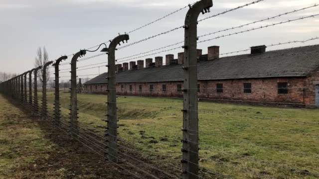 footage shows auschwitz, the most infamous of all nazi camps, ahead of holocaust memorial day on january 27, the date of its liberation 75 years ago. - infamous stock videos & royalty-free footage