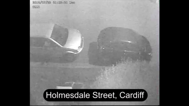 cctv footage shows the moments leading up to and after the stabbing of 20yearold malacaiah thomas in cardiff three men have been jailed for life for... - 刺傷事件点の映像素材/bロール