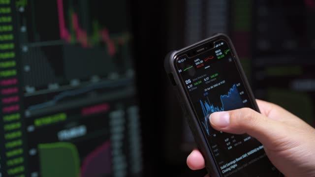 4k-film aktie marknaden investerare är handel lager - investering bildbanksvideor och videomaterial från bakom kulisserna