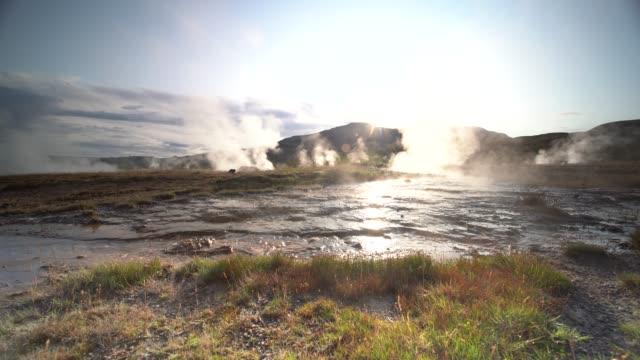 4k footage strokkur geyser erupting, geysir, iceland - 自然奇觀 個影片檔及 b 捲影像