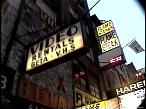 footage time square adult movie stores - theatrical performance stock videos & royalty-free footage