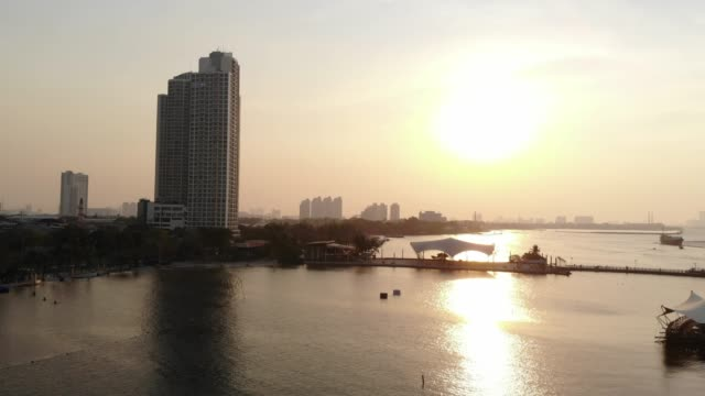 4k footage tourism activities in jakarta beach during sunset - bay of water stock videos & royalty-free footage