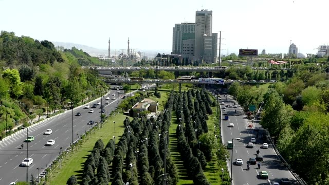 footage traffic taken from tabiat bridge in tehran, iran - iran stock videos and b-roll footage