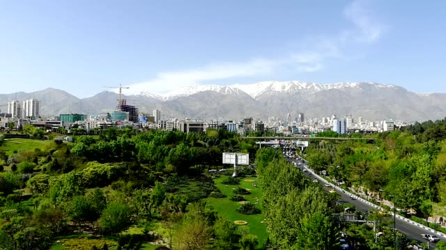footage traffic taken from tabiat bridge in tehran, iran - tehran stock videos and b-roll footage