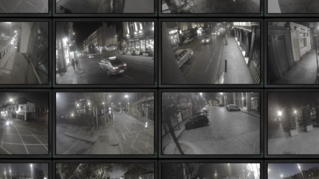 cctv footage - big brother orwellian concept stock videos & royalty-free footage