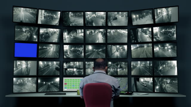 cctv footage - sorveglianza video stock e b–roll