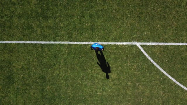 football, aerial view, to tackle - defender soccer player stock videos and b-roll footage