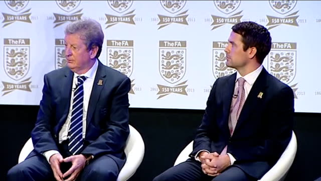 football association celebrates 150th anniversary interviews and press conference michael owen speaking sot / dave clarke speaking sot - football association stock videos & royalty-free footage